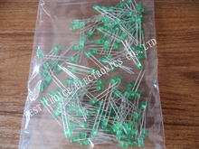 Free shipping 100pcs Green LED 3MM Green light-emitting diode Green turn Green