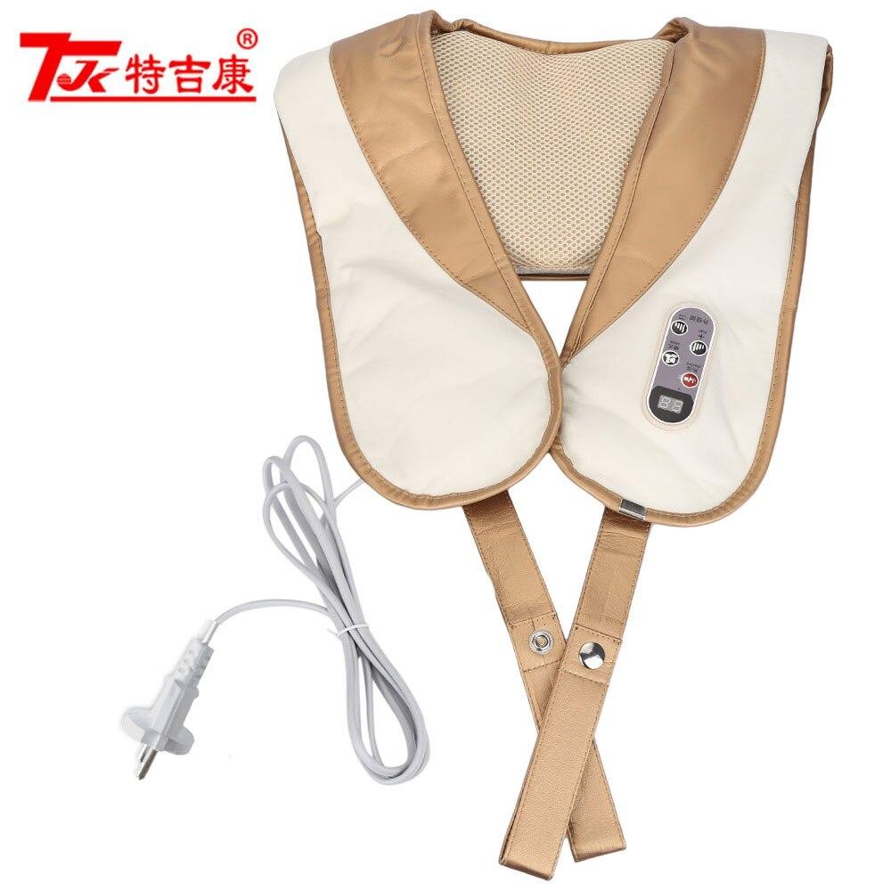 TJK TT705 Electric Body Massager Shawls Cervical Vertebra Massager Back Neck Shoulder Beauty Massager Knock Back Massage Device<br>