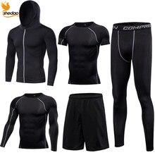 211671d8508 Hommes Gym entraînement fitness sportswear collants vêtements slim course  entraînement survêtement costumes séchage rapide fit haute