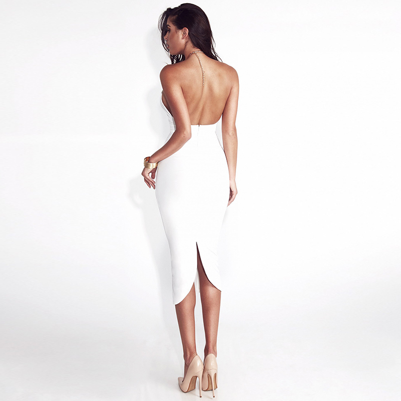 Articat Hollow Out Party Bodycon Bandage Dress Women 17 Off Shoulder Choker Long Pencil Dress Sexy Backless Split Winter Dress 4