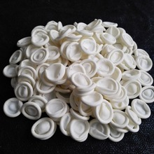20 pcs Nail Art Latex Finger cots Finger Gloves rubber ivory color disposable dactylotheca dust free(China)