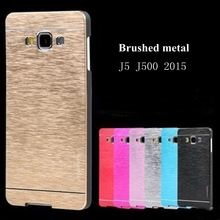 For Samsung J500 J5 2015 Cases Gold Pink Aluminum Metal Brushed Hard Cover Capa For Samsung j500 Galaxy 2015 j5 Phonecase nf305