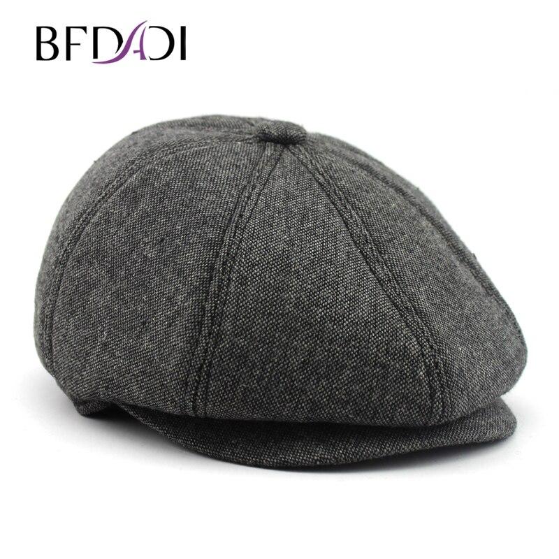 BFDADI 2016 New Arrival Fashion stylle Men Unisex Peaked cap Face warm cap Beret man Peaked cap man hat  free shipping<br>