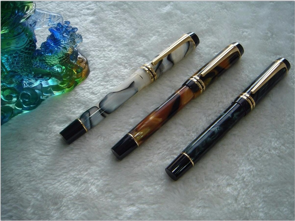 3pCS Kangaroo style celluloid top DUOFOLD Unique design acrylic roller pen Free shipping<br>