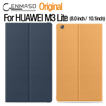 CENMASO Original Official flip Leather Case for Huawei Mediapad M3 Lite 8.0inch / 10.1 inch With Sleep / Wake Stand Tablet Cover