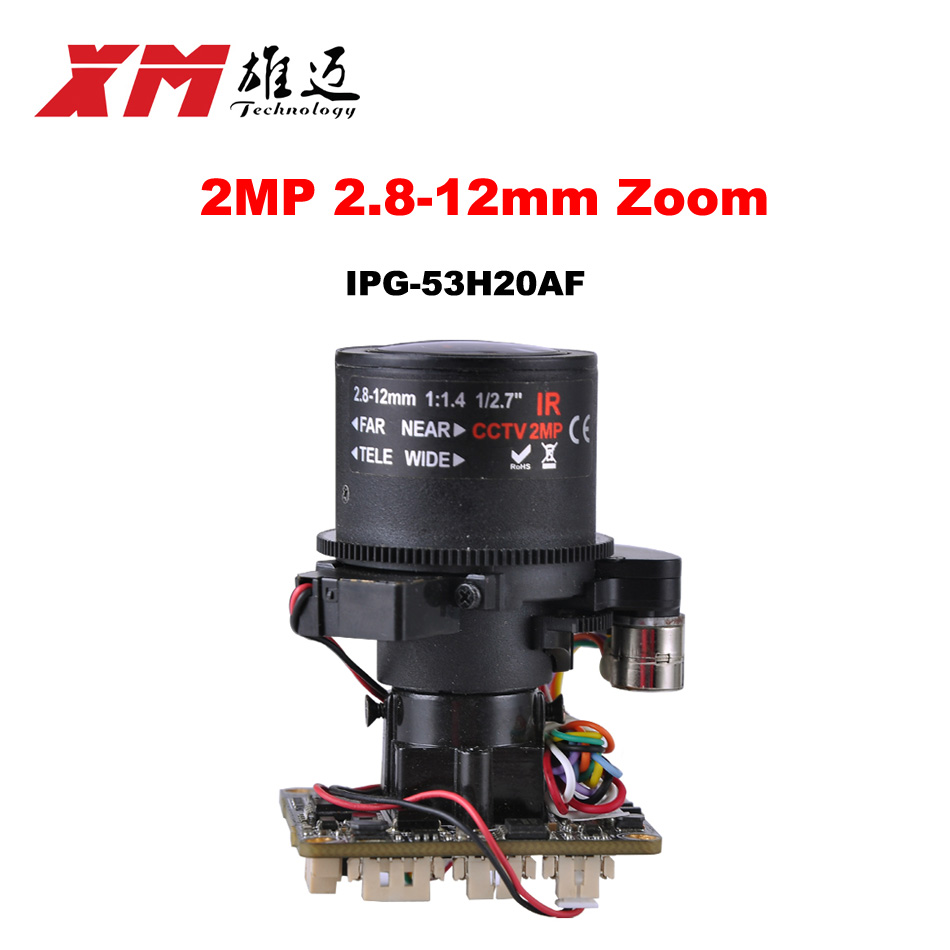 Auto-Zoom 3X Motorized Zoom LENs 2.8mm-12mm Full HD 1080P 1/2.9 SONY CMOS IMX322 + HI3516C IP Camera Module PCB Board<br>