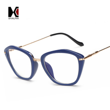 2017 New Springs Hinges Fashion Women Cat Eye Glasses Frame Clear Lens Blue Rays Protection Reading Glasses