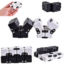 2017 New Infinite Cube Most Changeful Shape Toys For Adults Decompression Stress Fidget Cube Development Novelty Funny Toy TL097