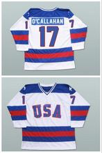 Hockey Jersey Vintage 1980 Miracle On Ice Team USA Jack O'Callahan 17 Hockey Jersey Sport Wear Wholesale Dropship