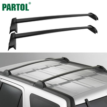 Partol Aluminum Car Roof Rack Cross Bars Crossbars Fit for Honda CRV 2002-2006 With 132 LBS Capacity, 08L02-S9A-102(China)