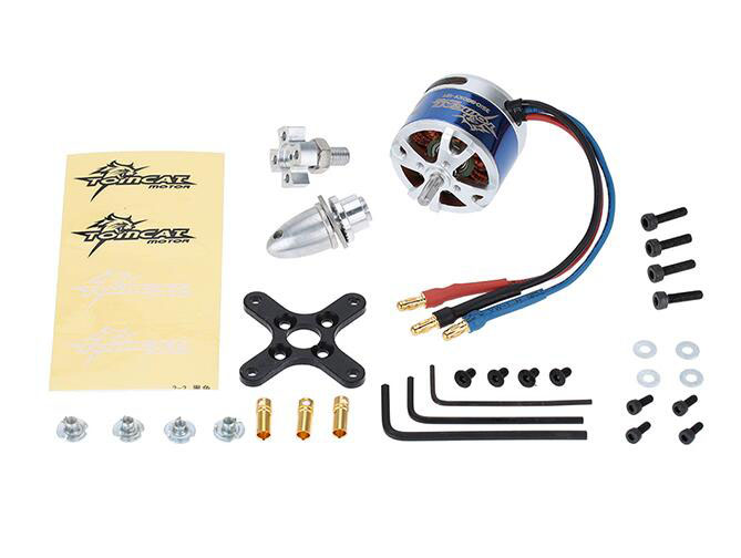 TOMCAT 3510 980KV 12T Brushless motor outer rotor motor for fixed wing aircraft blue color<br>
