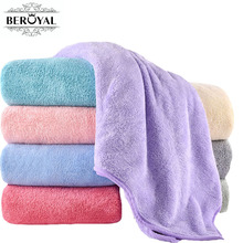 New 2017 bath towel - 1PC microfiber towel Plush Magic towel for Ault towels bathroom toalha de banho Spa Swimming cloth(China)