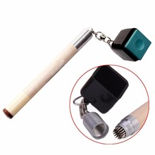 1 x Pocket Chalk Billiard Prep 2 in 1 Billiard Snooker Pool Table Cue Tip Shaper Pick Pricker Metal Repair Tool Pocket Keychain(China)