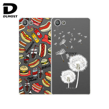 TPU Soft Case For Sony Xperia Z5 Compact 4.6inch Transparent Coloured Drawing Silicone Phone Cases Cover For Sony Xperia Z5 Mini