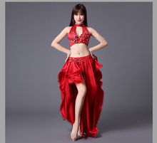 Bellydance oriental Belly Indian gypsy dance dancing costume costumes clothes bra belt chain scarf ring skirt dress set suit 630