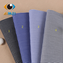 Multicolor plaid shirt fabrics Professional cultivate one's morality man yarn-dyed shirt fabric Kam cotton stretch fabric