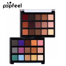 POPFEEL Brand Shimmer Matte Pigments MINI Eyeshadow Palette Cosmetics Waterproof Nude Color Glitter Eye Shadow Make Up(China)