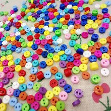 300pcs 5mm mini resin buttons kid's apparel sewing accessories mix colors two holes DIY crafts free shipping A994