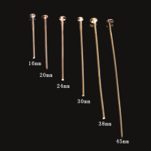 New Promotion 50g Size:16/20/24/30/38/45mm Mixed Rose Gold Flat Head Pins For DIY Earring Jewelry Findings Accessories Fittings