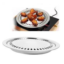 BBQ Grill Rack Stainless Steel Kitchen Barbecue Pan Indoor Outdoor Nonstick Roasting Tray(China)