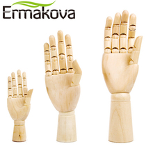 ERMAKOVA 12&10&7 Inches Tall Wooden Hand Drawing Sketch Mannequin Model Wooden Mannequin Hand Movable Limbs Human Artist Model(China)