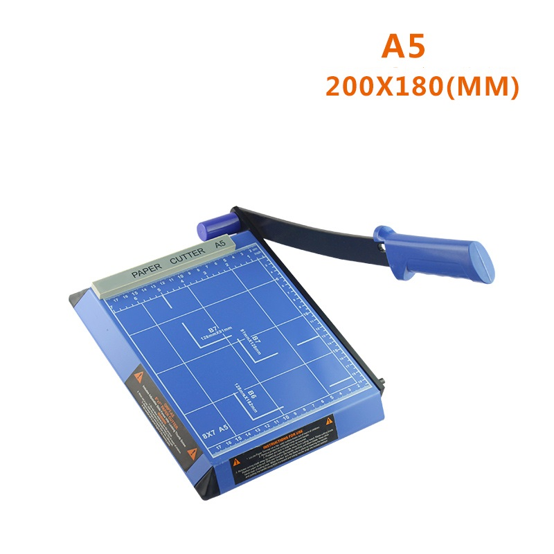 Blue & Metal A5 Paper Photo Cutter Guillotine cutting screen protector machine Trimmer Metal Base 3-5 Sheets with Grid