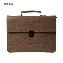 2 Color Hot Sale Retro Promotion Famous Brand Business Men Briefcase Bag Luxury Leather Laptop Bag Men's Bag bolsa maleta 2017(China)
