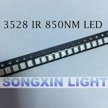 Free shipping IR 3528 SMD LED 850nm Infrared led diode Night Vision smt light diode 3.5*2.8*1.9mm(China)