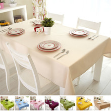 100% Cotton Table Cloth Solid Rectangular Sewing toalha de mesa Dustproof Tablecloth Home Wedding Party Table Cover