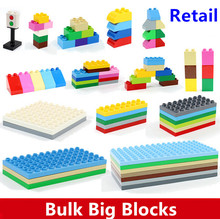Bulk Baby Blocks Big Building Blocks Toys 2*2 2*4 4*8 8*8 Plate Compatible with Duple DIY Toys Baseplate(China)
