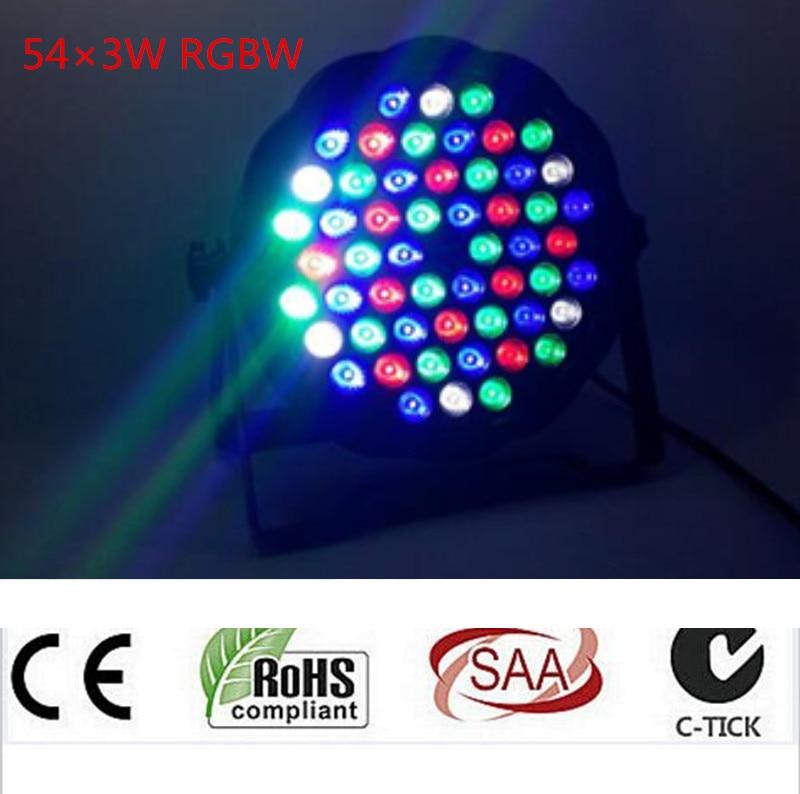 54X3W led par DJ Par LED RGBW Wash Disco Light DMX Controller Free Shipping<br>