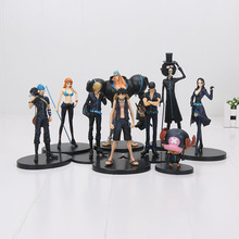 3pcs/set Anime One Piece figure Film Gold Monkey D Luffy Chopper Brook Sanji Nami Rorono Zoro PVC action Figures Toys 9-22cm