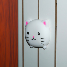 After Wall Thickening Mute Door Fenders Animal Frog Cat Bear Modelling Rubber Fender The Handle Door Lock Protective Pad Protect(China)