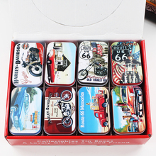 24Piece/Lot New Vintage Mac Cosmetic Jewelry Organizer Creative Tinplate Case Tin Box Candy Pill Container Wedding Favor Box