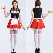 Sexy long paragraph dress costumes Halloween costume Pirates dress women sexy maid Oktoberfest clothing long sleeve sizeE0028