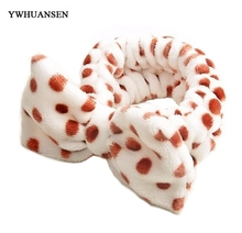 YWHUANSEN Bowknot Dot Peach Hearts Hello kitty Plush Headband Bathing/Wash Face/Make Up Hairbands Popular hair accessories(China)