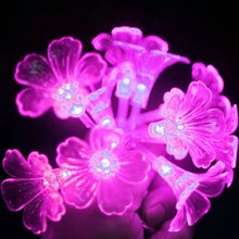 2.5M Holiday lights Small Night Light Christmas Party Wedding Decoration Kid Toy 10 Lily Lamps Led Battery Fairy Lighting String