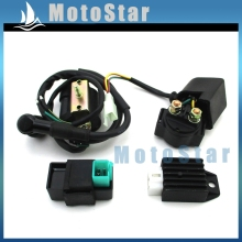 Regulator Rectifier CDI Ignition Coil Solenoid Relay Kit For Dirt Motor Bike ATV Quad Lifan Loncin Taotao Roketa SSR Thumpstar