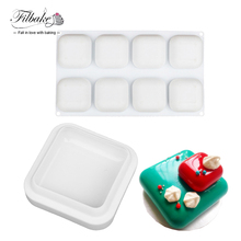 Square Stone Shaped Silicone Cake 3D DIY Baking Mold Cake Pan Non Stick