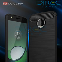 2017 Time-limited Rushed Carbon Fiber For Motorola Moto Z Zplay Hight Quality Soft Anti-drop Back Cover For Play Phone Cases(China)