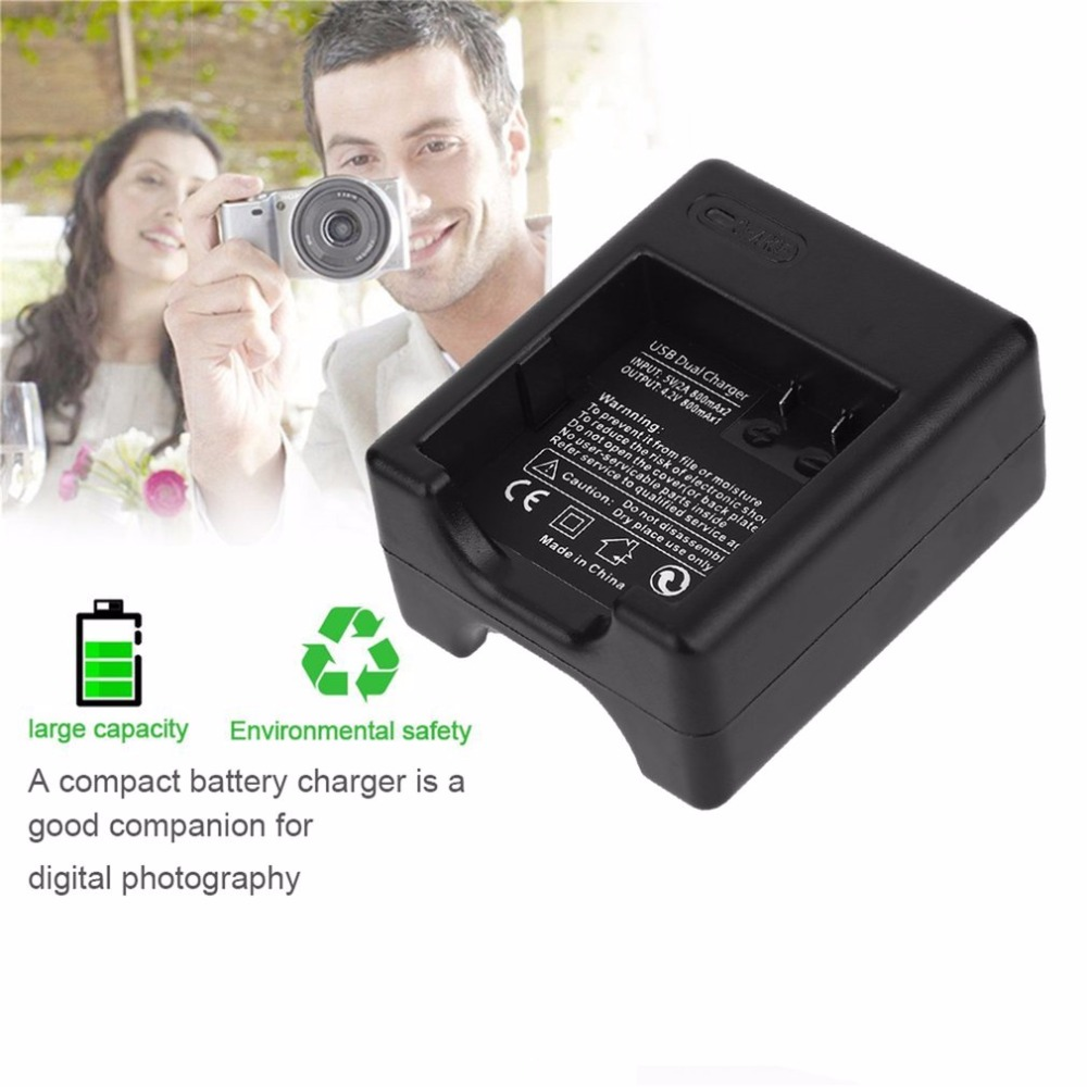 3.85V 1400mAh USB Dual Charger With 2 PCs Battery For XiaoMi Yi 2 II 4K For Original Sport Yi 4K Action Camera Accessories
