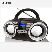 LONPOO nuevo CD MP3 Mini altavoz portátil Bluetooth altavoz Multimedia Radio FM estéreo USB inalámbrico Bluetooth Boombox(China)