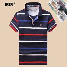 High Quality New 2017 Summer Men's Horse Brand Polo Shirt Polos Men Short Sleeve Embroidery Striped Causal Shirt Classical Style