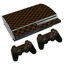 OSTSTICKER Checked Vinyl Skin Sticker for sony playstation 3 Fat for PS4 Fat sticker China manufacturer(China)