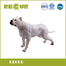 Recur Hot Sale Dogo Argentino Pet Model Highly Detailed Hand Painted PVC Soft Dog Animal Action Figures Toy Boys Gift Collection