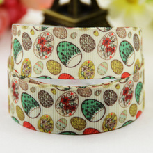 7/8'' (22mm) Easter Eggs Cartoon Character printed Grosgrain Ribbon party decoration satin ribbons X-01312 OEM 10 Yards