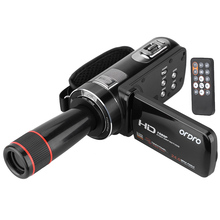 ORDRO HDV-Z8 1080P Full HD Digital Video Camera Camcorder 16x Digital Zoom Digital Rotation LCD Touch w/12x Telephoto Lens(China)