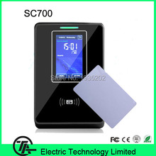 Biometric linux system SC700 13.56MHZ IC card access control and time attendance proximity access control with free software(Hong Kong)