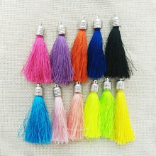 tassels charms handmade fiber Tassel caps crimps ends earring necklace findings rayon fringe trim keychains pendants component