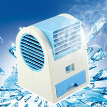 Fashion Mini Fan Cooling Portable Desktop USB Mini Air Conditioner Cool Cooling Desk Water Mist Fan Without Battery(China)